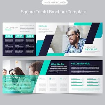 Quadratische dreifachgefaltete broschürenvorlage