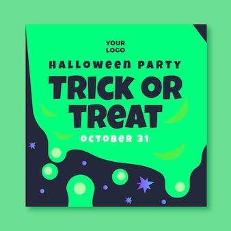 Quadratische flyer-vorlage für halloween