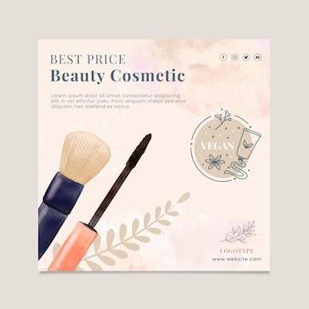 Quadratische flyer-vorlage für kosmetikverkauf