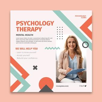 Quadratische flyer-vorlage für psychologie