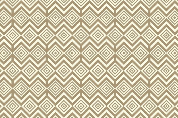 Quadratische goldene textur nahtloses geometrisches muster weicher brauner hintergrund vektor nahtloses muster geometrischer hintergrund mit raute und knoten abstraktes geometrisches muster