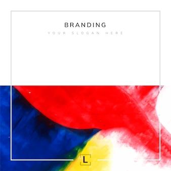 Quadratische künstlerische branding-vorlage