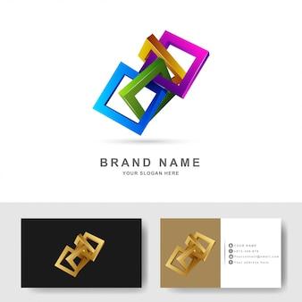 Quadratische logo-designvorlage