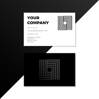 Quadratische monochrome visitenkarten