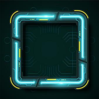 Quadratische technologie banner design