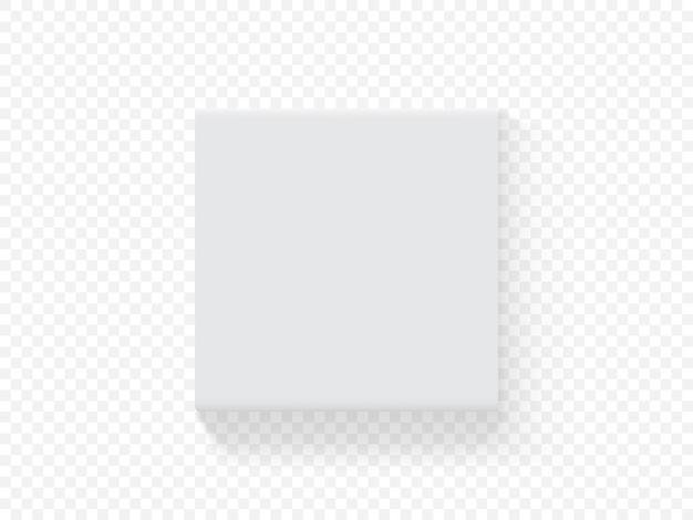 Quadratische verpackungsbox aus vektorpapier