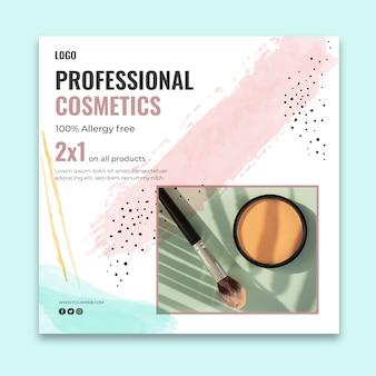 Quadratische vorlage für kosmetische flyer
