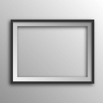 Quadratischer bilderrahmen mit schatten.