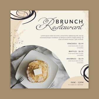 Quadratischer flyer des brunch-restaurants