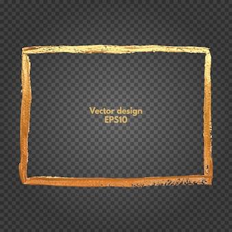 Quadratischer goldrahmen