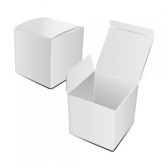 Quadratischer karton kunststoffverpackung.