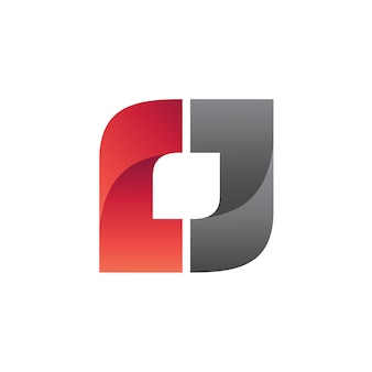 Quadratischer logo-vektor