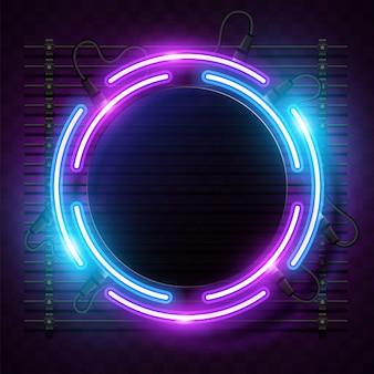 Quadratischer purpurroter neonfahnenentwurf
