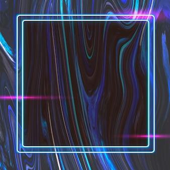 Quadratischer rahmen auf abstraktem hintergrund