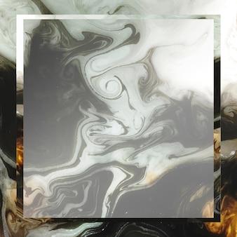 Quadratischer rahmen auf schwarzem abstraktem hintergrund