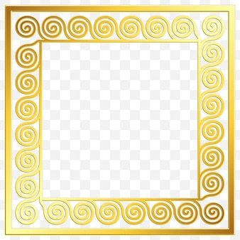 Quadratischer rahmen mit traditionellem goldenen goldenen griechischen verzierung, mäandermuster