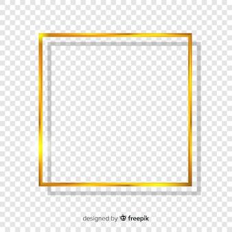 Quadratischer realistischer goldener rahmen