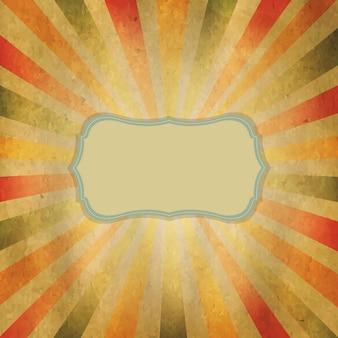Quadratischer sunburst mit sprechblase,