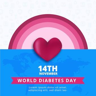 Quadratisches banner des weltdiabetestages