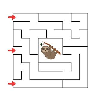 Quadratisches labyrinth. spiel für kinder