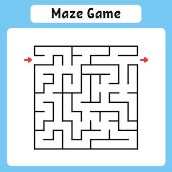 Quadratisches labyrinth Premium Vektoren