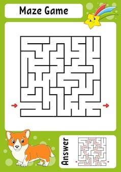 Quadratisches labyrinthspiel für kinder lustiges labyrinth
