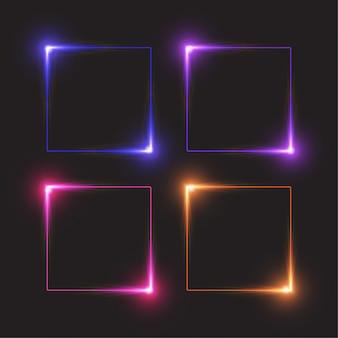 Quadratisches licht banner.