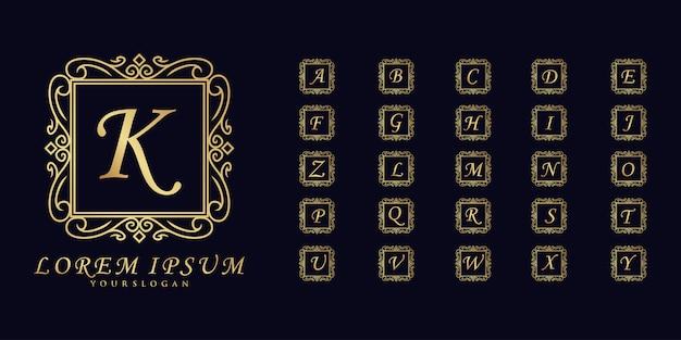 Quadratisches minimalistisches anfängliches premium-logo premium