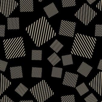 Quadratisches muster, abstrakter geometrischer hintergrund. kreative und luxuriöse illustration