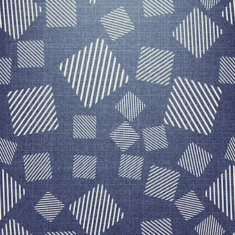 Quadratisches muster auf textil. abstrakter geometrischer hintergrund, vektorillustration. kreatives und luxuriöses bild