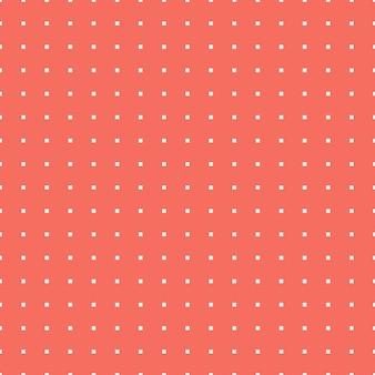 Quadratisches muster in der farbe living coral. abstrakter geometrischer hintergrund. farbe des jahres 2019. illustration im luxuriösen und eleganten stil