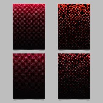 Quadratisches Muster Poster Design