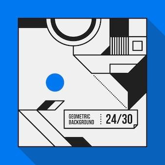 Quadrattext hintergrund mit abstrakten geometrischen formen. nützlich für banner, abdeckungen und plakate.