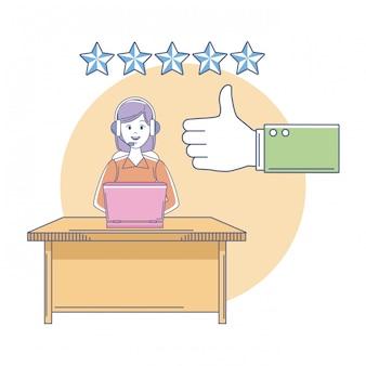 Qualifikationen von kundendienstmitarbeitern