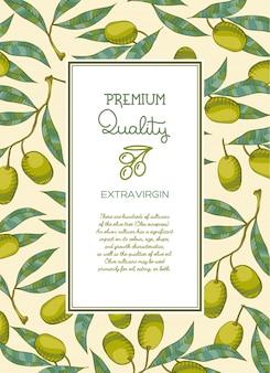 Qualität olivenöl hintergrund