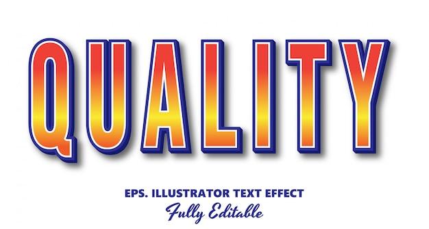 Qualitätsvektor bearbeitbarer texteffekt