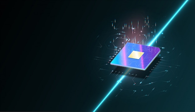 Quantencomputer, verarbeitung großer datenmengen, datenbankkonzept.cpu