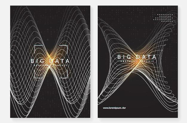 Quantencomputing-hintergrund. technologie für big data, visualisierung, künstliche intelligenz und deep learning. designvorlage für energiekonzept. hintergrund des digitalen quantencomputings.