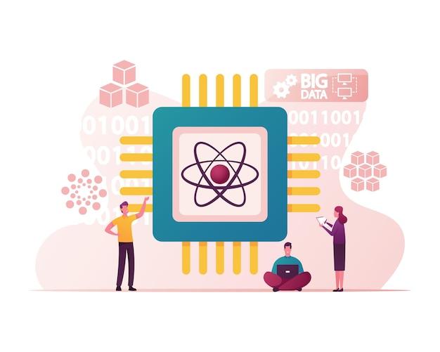Quantum computing illustration.