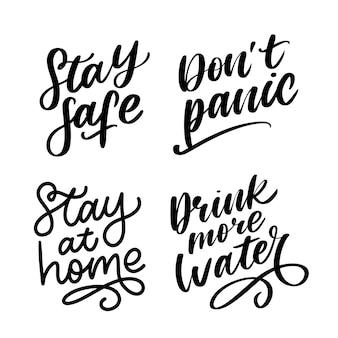 Quarantäne slogan illustration