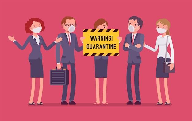 Quarantänewarnung für das büro