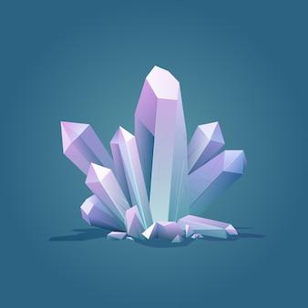 Quartz luxus farbe geometrischen kristall