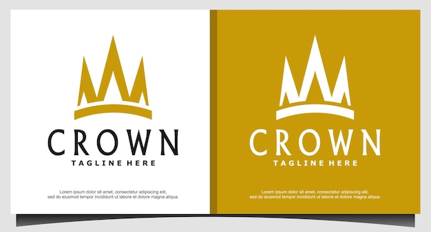 Queen king princess crown royal beauty luxus-logo-design