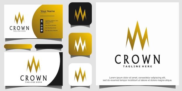 Queen king princess crown royal elegantes logo-design
