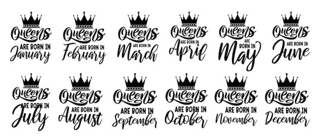 Queens sind geboren typografie zitiert design