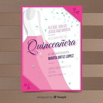 Quinceañera-einladung