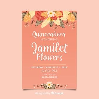 Quinceañera party einladung
