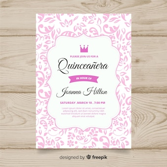 Quinceañera-partyeinladung