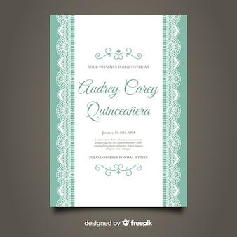 Quinceanera-spitze-partykarte