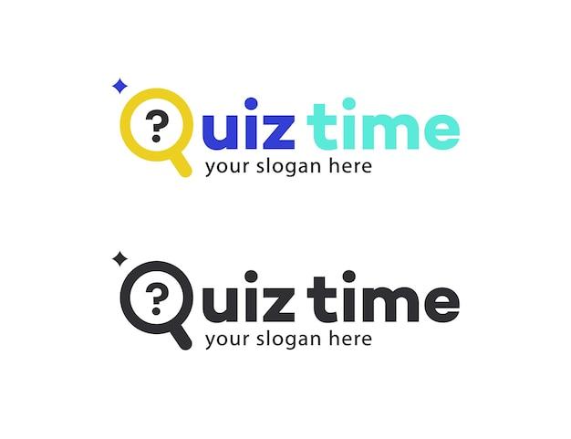 Quizvektorsymbol mit frage für die wettbewerbsprüfung smart show kids game interview quiz-symbol